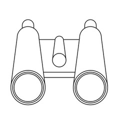 binoculars campng symbol isolated in black and vector image