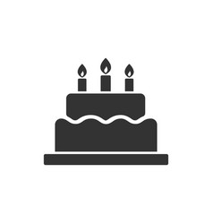 birthday cake icon images vector image