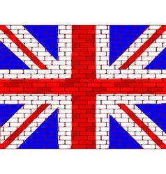 brick english flag vector image