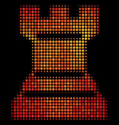 Bright dotted chess tower icon vector