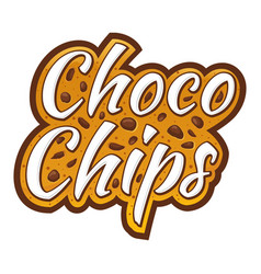 Choco chips lettering custom logo vector