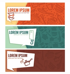 Coocing banners vector