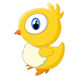 Cute baby chicken vector image