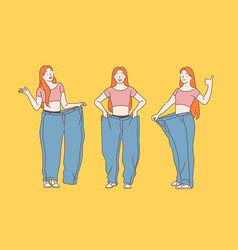 diet weight loss slimming concept vector image