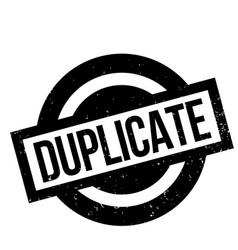 Duplicate rubber stamp vector