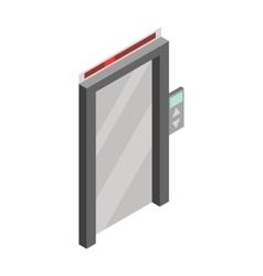 Elevator door icon isometric 3d style vector image