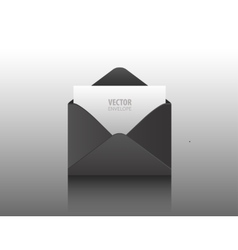 envelope Black opened isolated on a vector image