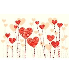 fantasy hearts vector image
