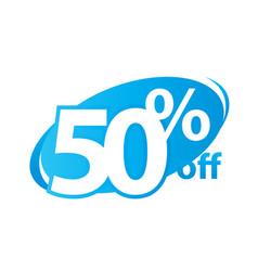 Fifty percent off vector