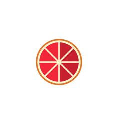 Flat grapefruit element of vector