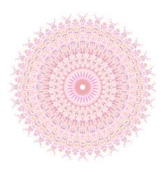 Floral mandala ornament - abstract design vector