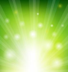 Green Sunburst Xmas vector