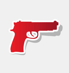 gun sign new year reddish vector image