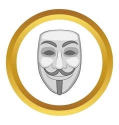 Hacker or anonymous mask icon vector