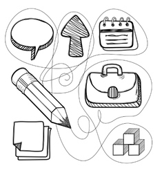 Hand drawn management design line vector