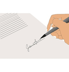 Hand sign contract vector