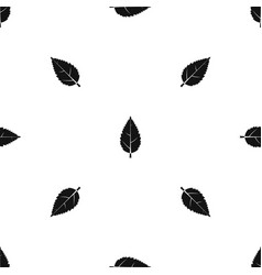 Hornbeam leaf pattern seamless black vector