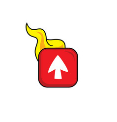 hot flame icon button theme art vector image