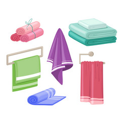 Household towels cotton bathroom hygiene towel vector