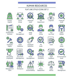 hr icons set 2 vector image