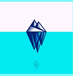 Iceberg icon arctic engraving style vector