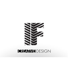 if i f lines letter design with creative elegant vector image