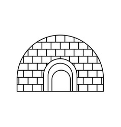igloo icon outline style vector image