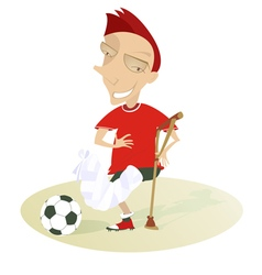 Injured football player vector