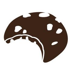 Isolated bitten cookie vector