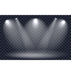 Light Effect Spotlight with Transparent Background vector image