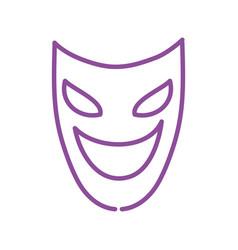 Mardi gras theater mask icon vector