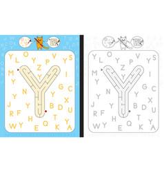 Maze letter y vector