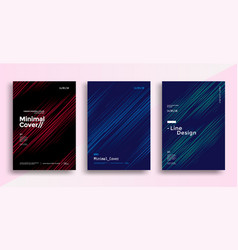 Minimal dynamic covers design with color line vector
