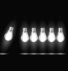 Perpetual motion with light bulbs vector