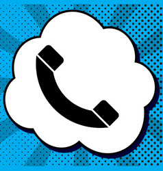 phone sign black icon in vector image