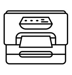 Plastic printer icon outline style vector