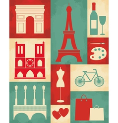 Retro paris poster vector