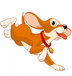 running puppy vector image