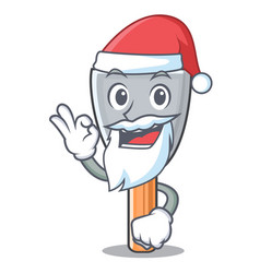 Santa vintage putty knife on mascot vector