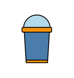 Soft drink cup icon vector