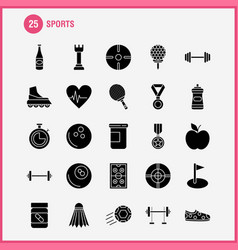 Sports solid glyph icon for web print and mobile vector