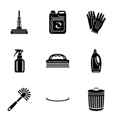 sprawling icons set simple style vector image