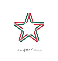 star with Mexico flag colors design element vector image