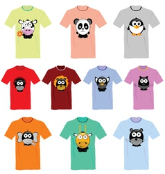 T-shirts with pictures of animals vector image