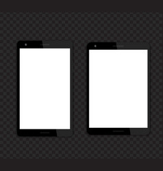 tablets mockups with blank screens vector image
