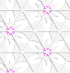 White triangular net and pink seamless vector