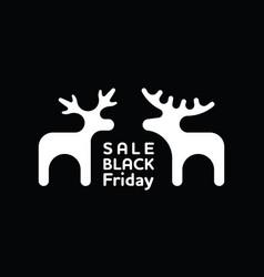 winter black friday sale banner with elk vector image