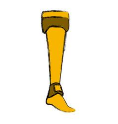 Women warrior boot vector