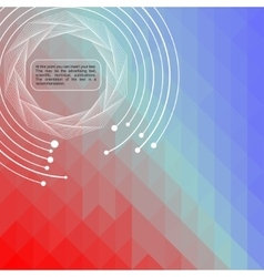 Abstract background of digital technologies vector image vector image