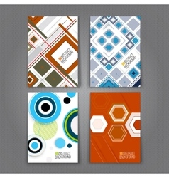 Abstract Backgrounds Set Geometric Shapes and vector image vector image